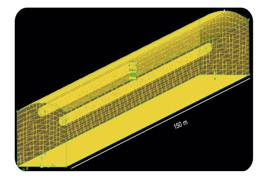 Figura 1. (a) Esquema del reactor y (b) Malla del reactor